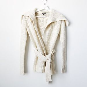 Express • Shawl Collar Metallic Tie Cardigan